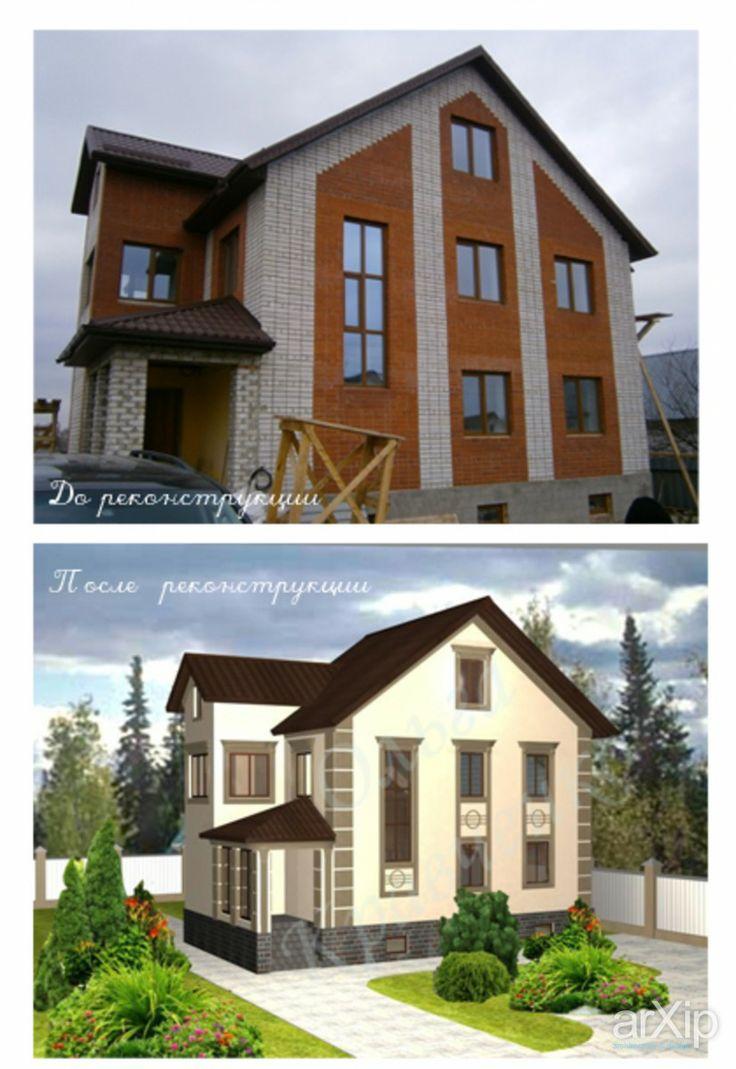 реконструкция фасада: архитектура, жилье, 3 эт   9м, 200 - 300 м2, фасад - штукатурка, коттедж, особняк, классицизм #architecture #housing #3floors_9m #200_300m2 #facade_plaster #cottage #mansion #classicism arXip.com