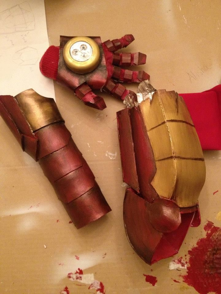 Iron Man arm armour.  Made by me, from formed craft foam.  For Extremis Pepper Potts cosplay (Iron Man 3) #cosplay #iron man #iron man 3