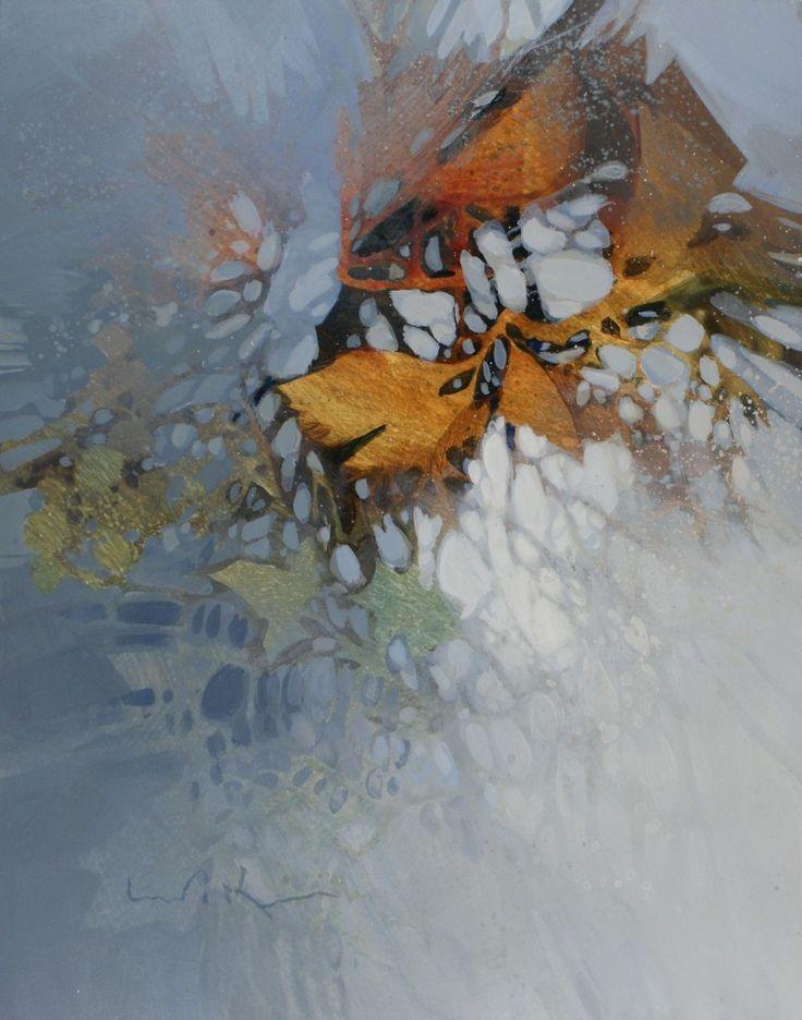 """Linda Kemp - """"Unspoken #2""""   14 """" x 11"""" Acrylic on Clayboard"""