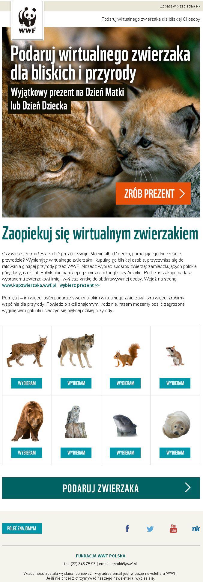 Wirtualny zwierzak dla mamy lub dziecka / https://panel.sendingo.pl/kampania/6ny / #newsletter #email #template #theme