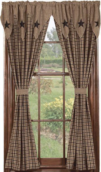 Vintage Star Black Window Drapes & Panels....love these