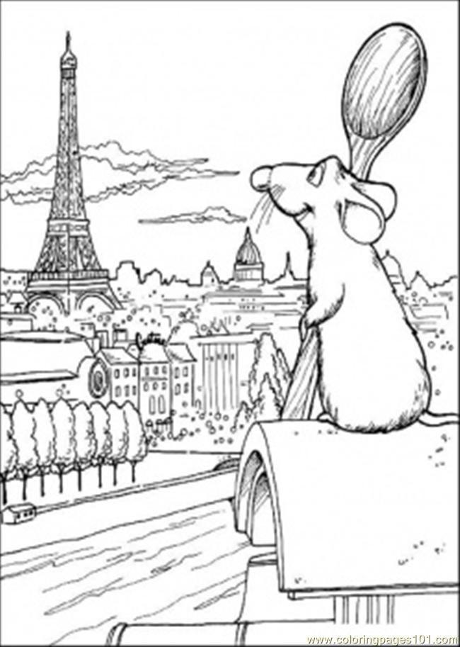 Ratatouille coloring page.