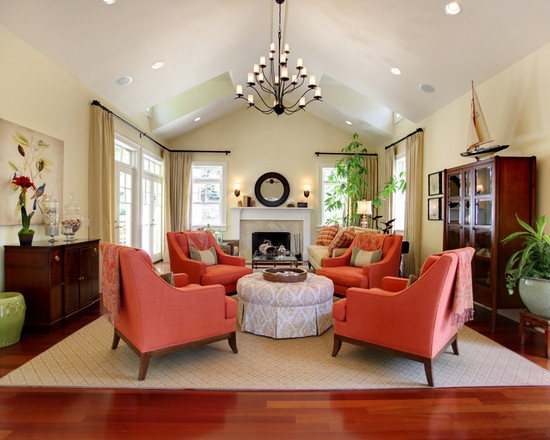 A Pop Of Orange   Traditional   Living Room   Los Angeles   Stephanie Wiley  Photography Part 23