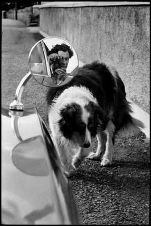 I love my leica - Self portrait-...Elliot Erwitt