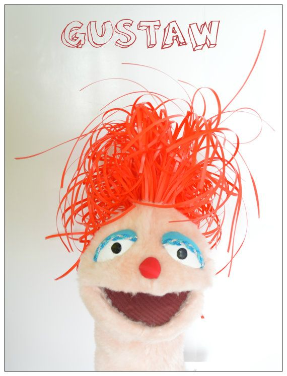 Awesome Hand Muppet, Handmade Muppet-Style, Muppet arm rod puppet, Performance puppet#08