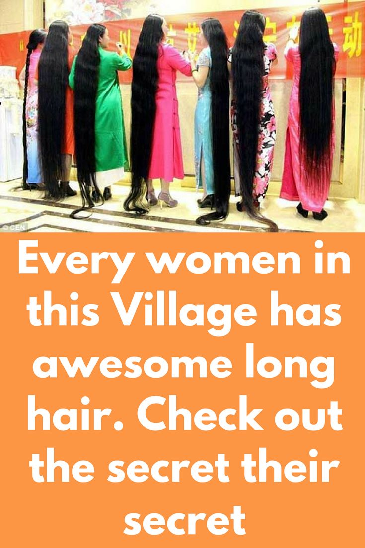 Every women in this village has awesome long hair. Check out the secret their secret – Hair