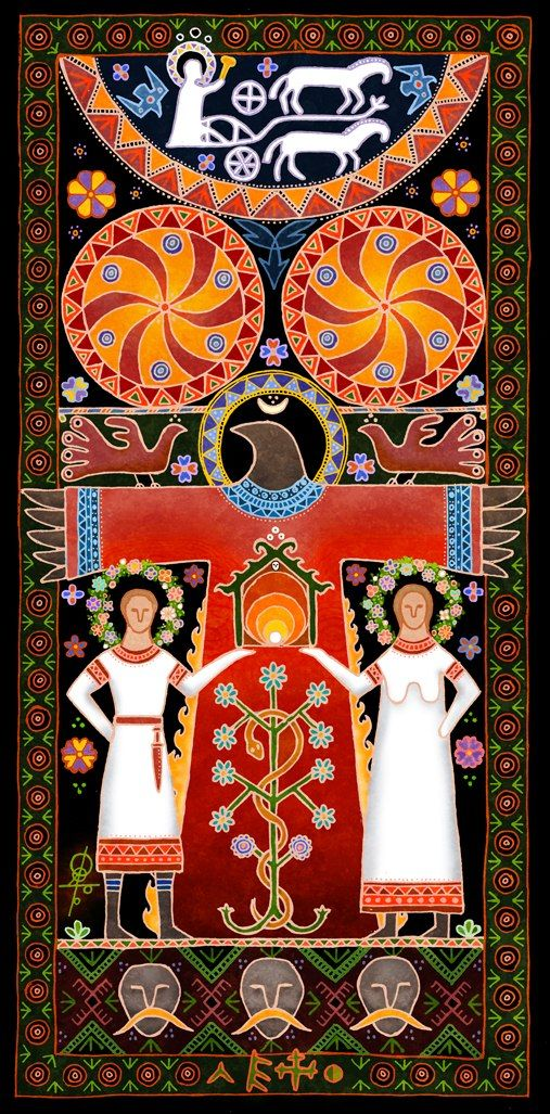 Bird Mother Slovanská mytológia - Sukhareva Maxim Славянская мифология - Сухарев Максим