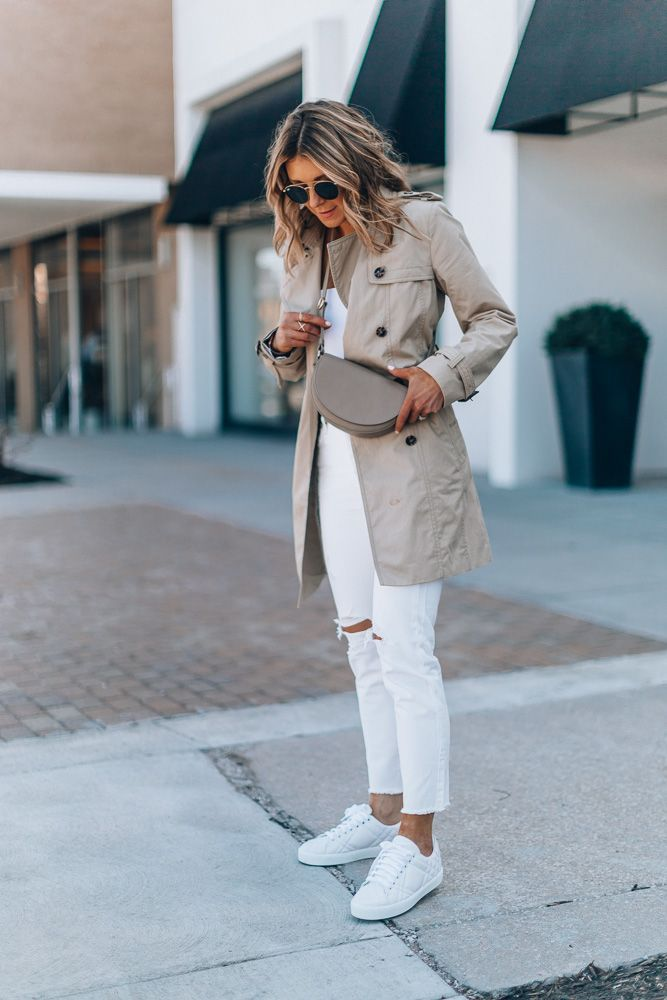 The Spring It Bag That Goes with Everything | Cella Jane #whitejeans #whitesneak…