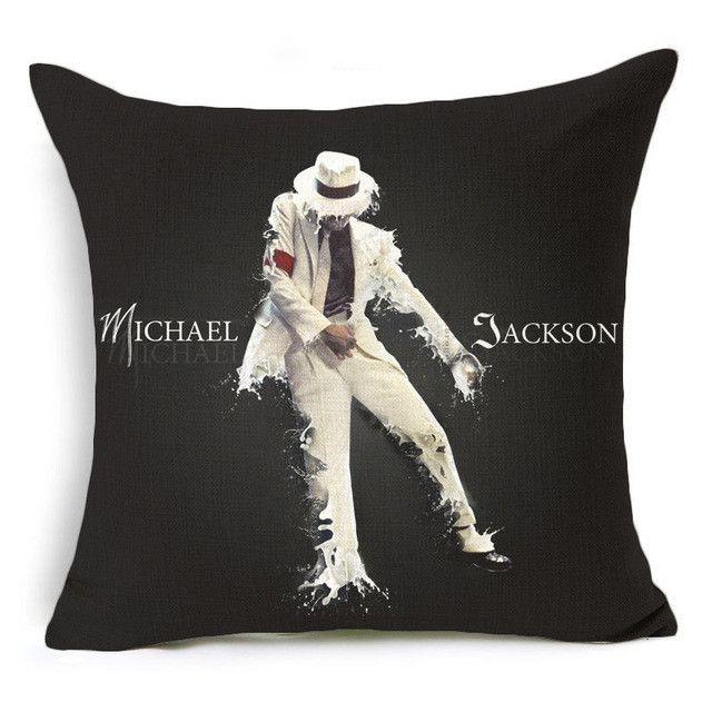 Hyha Marilyn Monroe Michael Jackson Elvis Presley Cushion Cover Audrey Hepburn Super Star Home Decorative Pillow Cover for Sofa