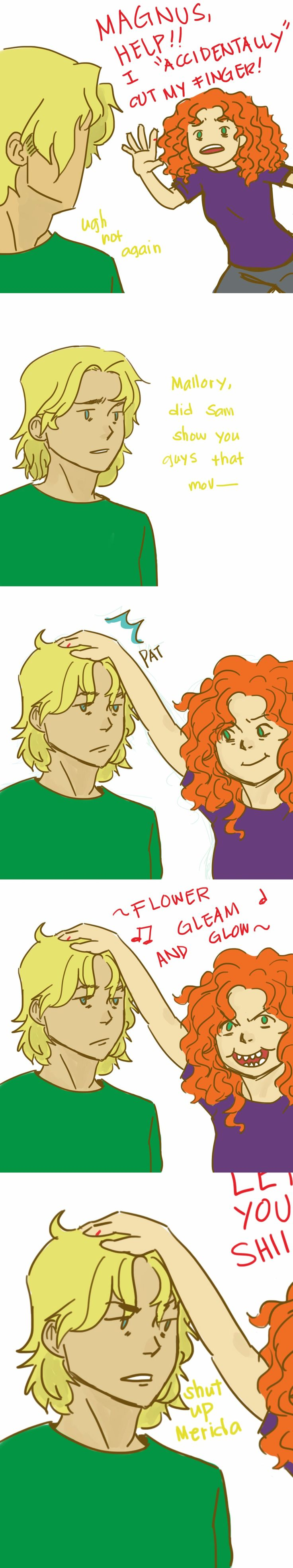 Pretty sure this happened at least a hundred times | #Magnus #Mallory