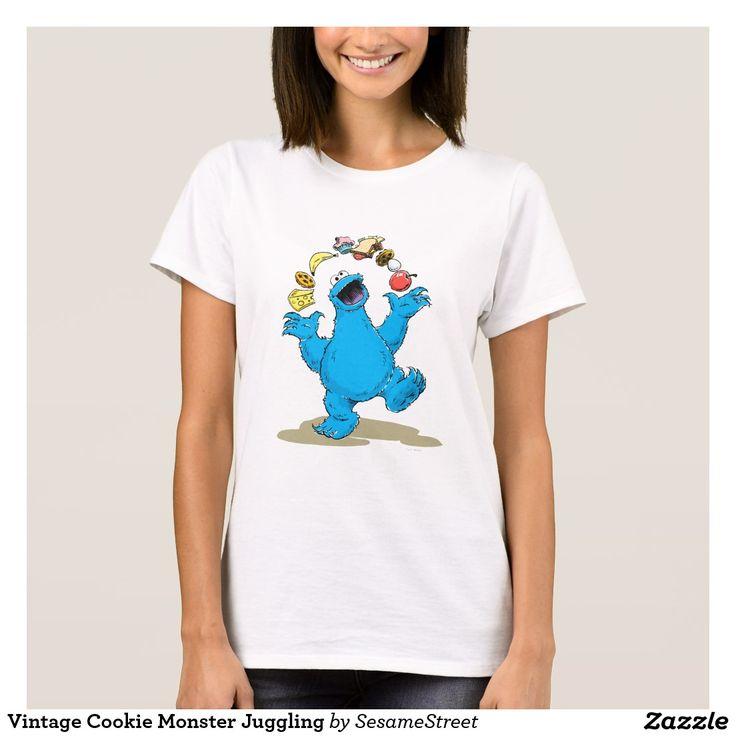 Vintage Cookie Monster Juggling. Regalos, Gifts. #camiseta #tshirt