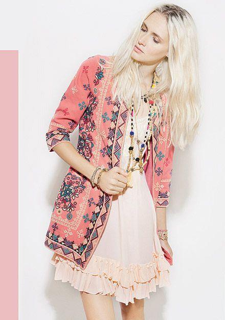 Rapsodia Chile - Lookbook | gorgeous link ethnic bobo embroidered jacket