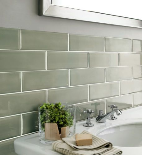 green kitchen wall tiles edgar brick effect metro ceramic green gloss bevelled 4033