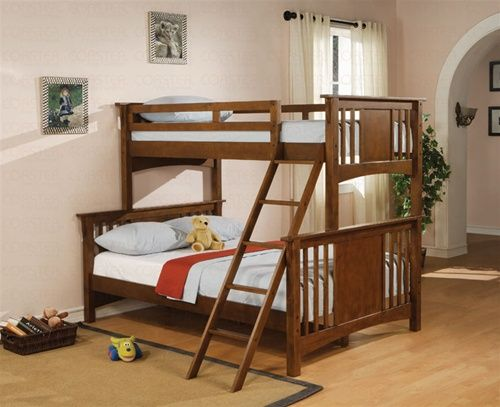 glasgow brown cherry twin full bunk bed