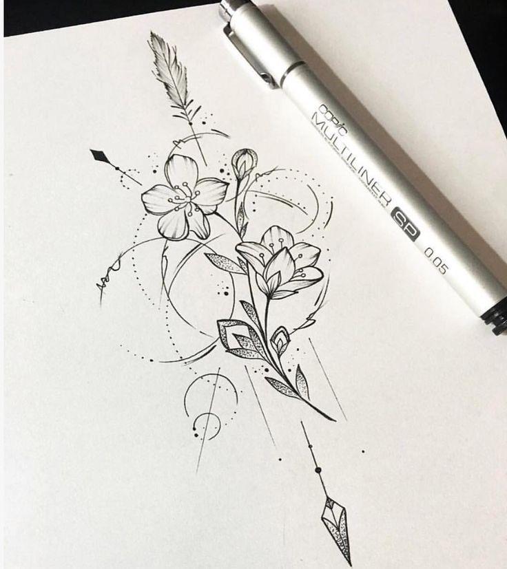Repost eines Designs, das ich vor einiger Zeit gemacht habe :) Bei Interesse bitte DM mir. . #blackandw … #Tattoos #Ale – Leonie Alb