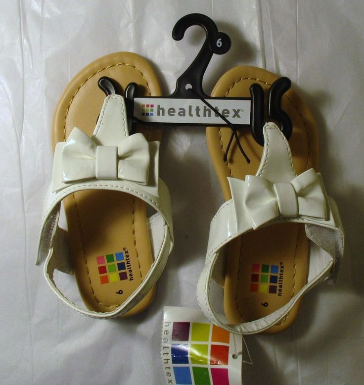 Item ID: 381957370713 Toddler Girl's (Size 6) HEALTHTEX White Sandals With Bow Velcro Closure NWT #Healthtex #Sandals
