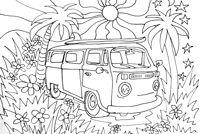 vw camper van colouring page | Zentangles ~ Adult ...