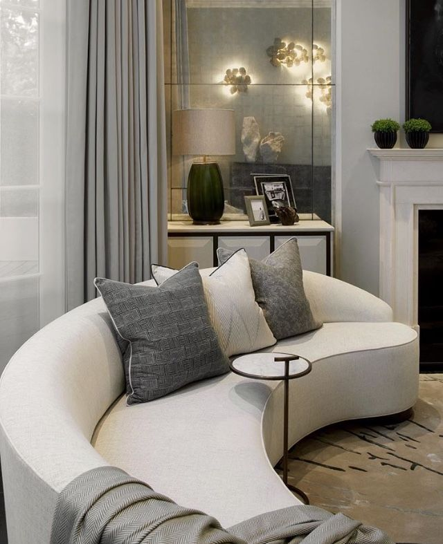 Cute Curved Sofa Perfect For A Small Sitting Area