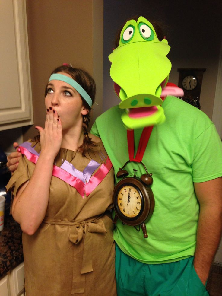 DIY tick tock croc costume. Peter Pan crocodile.