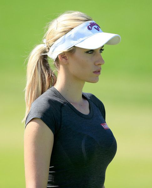 Paige Spiranac Photos Photos - Paige Spiranac of the United States walks to her third shot on the par 4, first hole during the second round of the 2015 Omega Dubai Ladies Masters on the Majlis Course at The Emirates Golf Club on December 10, 2015 in Dubai, United Arab Emirates. - Omega Dubai Ladies Masters - Day Two Find latest in Golf Push Carts and More @ http://bestgolfpushcarts.net/product-category/golf-push-carts/callaway/