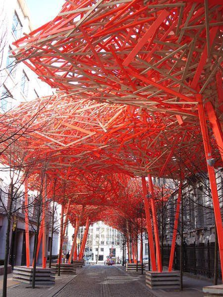 Public art sculpture in Brussels, Belgium