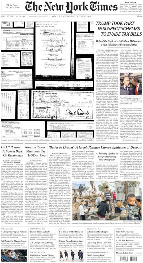 The New York Times ( Wednesday October 3 2018) #news