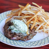 Steak frites at Le Bouchon Le Bouchon may be classic, but it's far from stale. Bucktown's charming French boîte, which turns 20 in June, has been humming with energy and creativity since owner Jean-Claude Poilevey's son, Oliver, rejoined the fold in January.