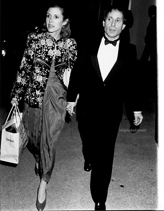 Carrie Fisher and then-husband, musician Paul Simon - 26th Thalians Ball, New York City (October 1981)