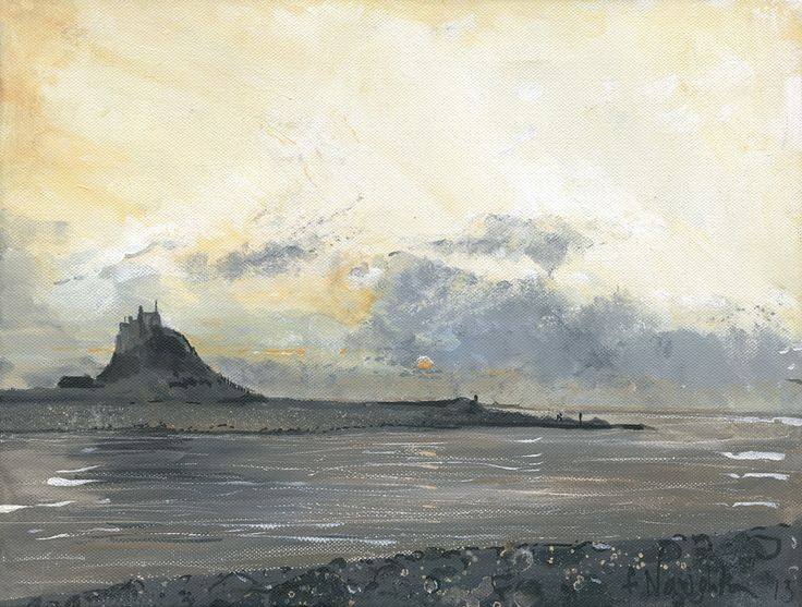 HOLY ISLAND LINDISFARNE The magical and somewhat mystical Holy Island with its ever changing skies. This Limited Edition print was made from an original acrylic painting on canvas  Format: Limited edition Giclee printed on Epson Enhanced Matt 192gsm  Print size: 25 x 33cm  Mounted size: 43 x 51cm  FREE UK mainland standard delivery on all orders