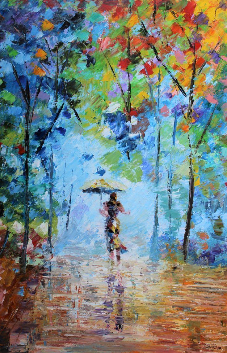 Seasonal Art Print Colorful Palette Autumn Painting Beautiful Art Paintings Colorful Oil Painting Autumn Painting