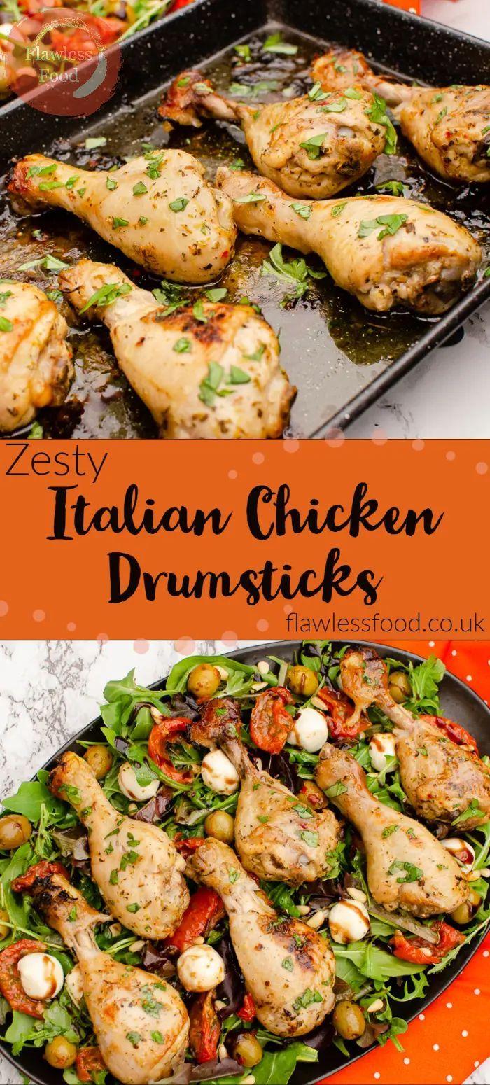 Zesty Italian Chicken Drumsticks Oven Air Fryer Bbq By Flawless Food Zesty Italian Chicken Chicken Drumsticks Healthy Chicken Recipes