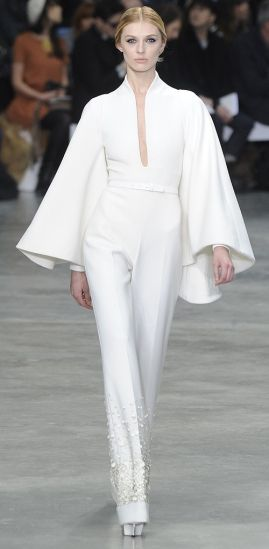 A man with talent.! Stephane Rolland 2013 Summer Couture . White jumpsuit