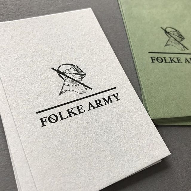 Business Cards for the very best @folkeagency on @bjballau #colorplan #printedbyMP