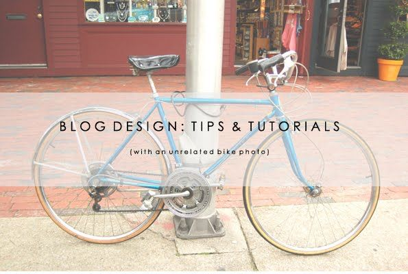blog design tips and tutorials.