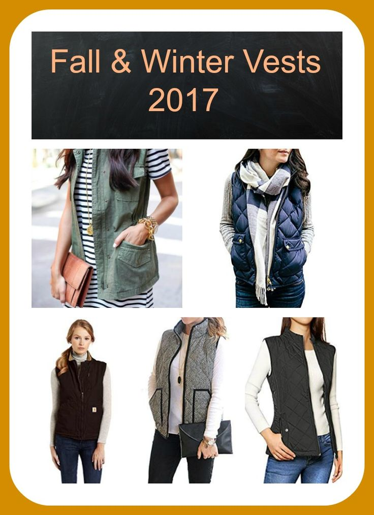 ON TREND Fall & Winter vests 2017! So many gorgeous vests to choose from for great deals! Amazon Fashion! #fallfashion #2017falltrends #fallvests *affiliate