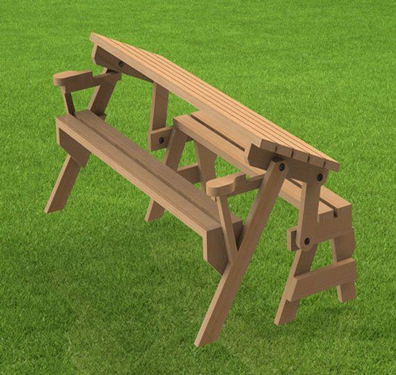 Excellent Folding Bench And Picnic Table Combination Woodworking Gmtry Best Dining Table And Chair Ideas Images Gmtryco