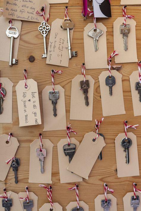 Idee voor het gastenboek: key to success   ThePerfectWedding.nl