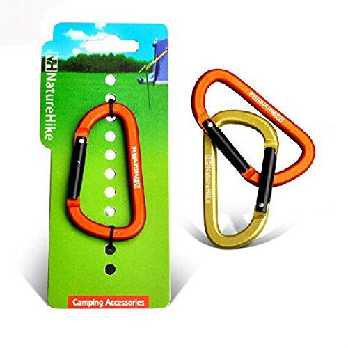 Outdoor Camping Carabiner Aluminum Alloy 8cm Multifunction Buckle ** Visit the image link more details.