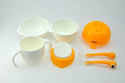 [$13.99](▼61%)Dinnerware baby feeding tool set for 5 big bowl soup bowl water cup dinner spoon fork children gift