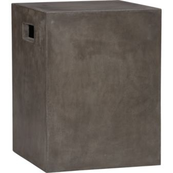 cement grey side table in outdoor furniture | CB2 - via http://bit.ly/epinner