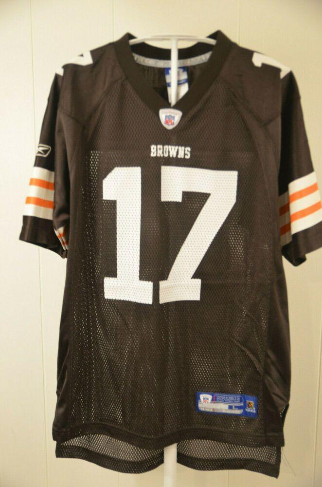 Reebok Cleveland Browns Jersey #17 Braylon Edwards NFL Kids Youth ...