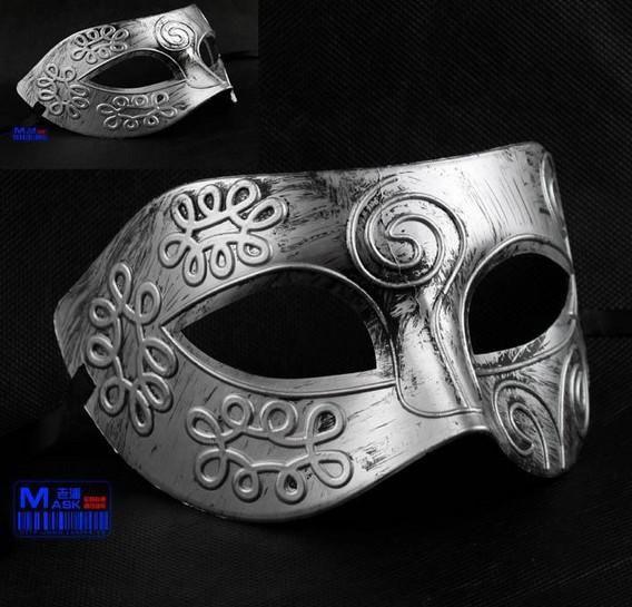 Wholesale Sexy Antique Roman Greek Fighter Men Mask Venetian Mardi Gras Party Masquerade Halloween Costume Half Face Masks Veil Gold silver, Free shipping, $2.19/Piece   DHgate Mobile