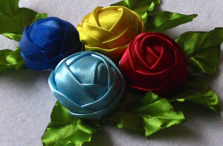 Novo modelo de rosas em Fitas de Cetim Passo a Passo -Buddhist Bunga, Ri...