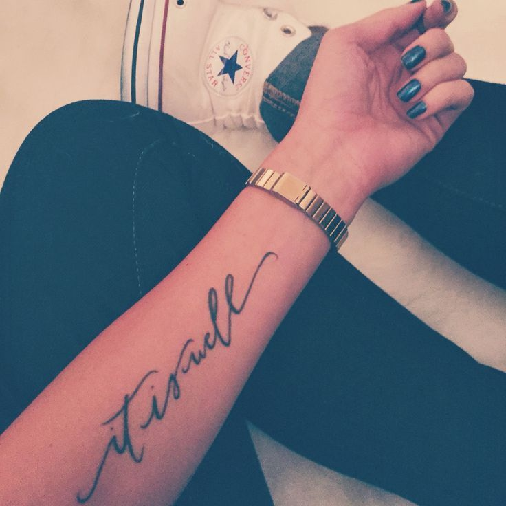 It is well with my soul tattoo #itiswell #withmysoul #tattoo #forearm #ink #arm #writting
