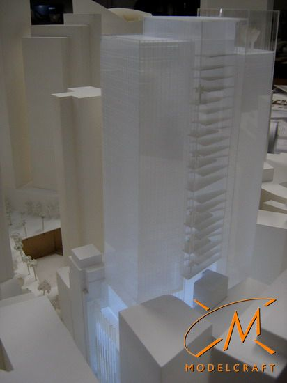 1:500 White Architectural Model by Modelcraft (NSW) Pty Ltd