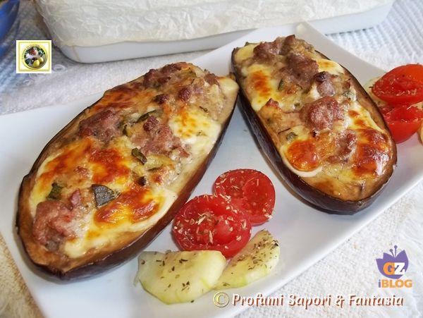 Melanzane a barchetta ripiene al forno ricetta Blog Profumi Sapori Fantasia