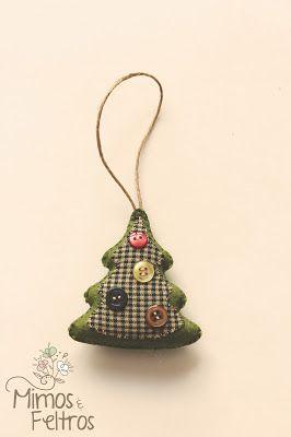 Mimos e Feltros: Enfeites de Natal em Feltro da Andrea