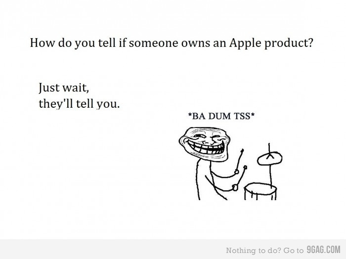 apple products: Apples Fanboy, Apple Products, Apples Humor, Apples Products, Apples Owners, Annoying Apples