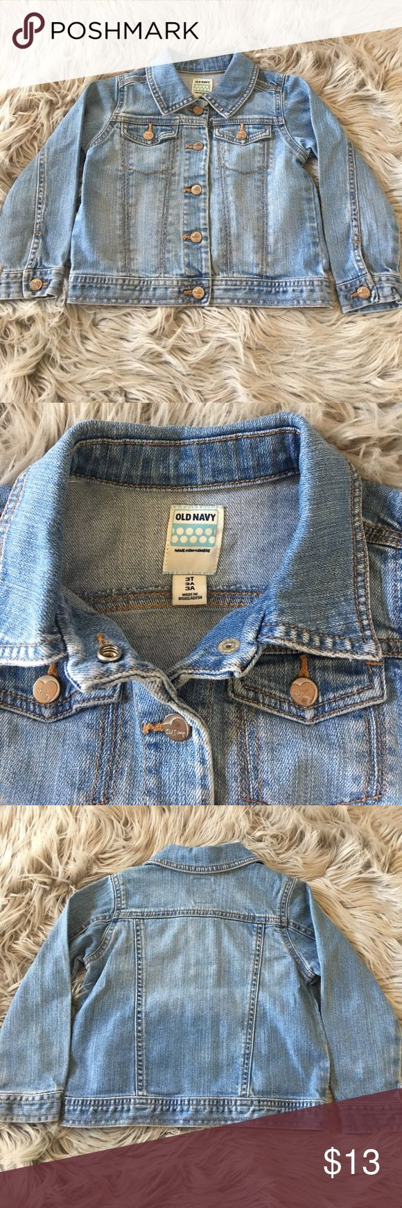 Old Navy jean jacket Light wash jean jacket. Excellent condition. Size 3T. Old Navy Jackets & Coats Jean Jackets