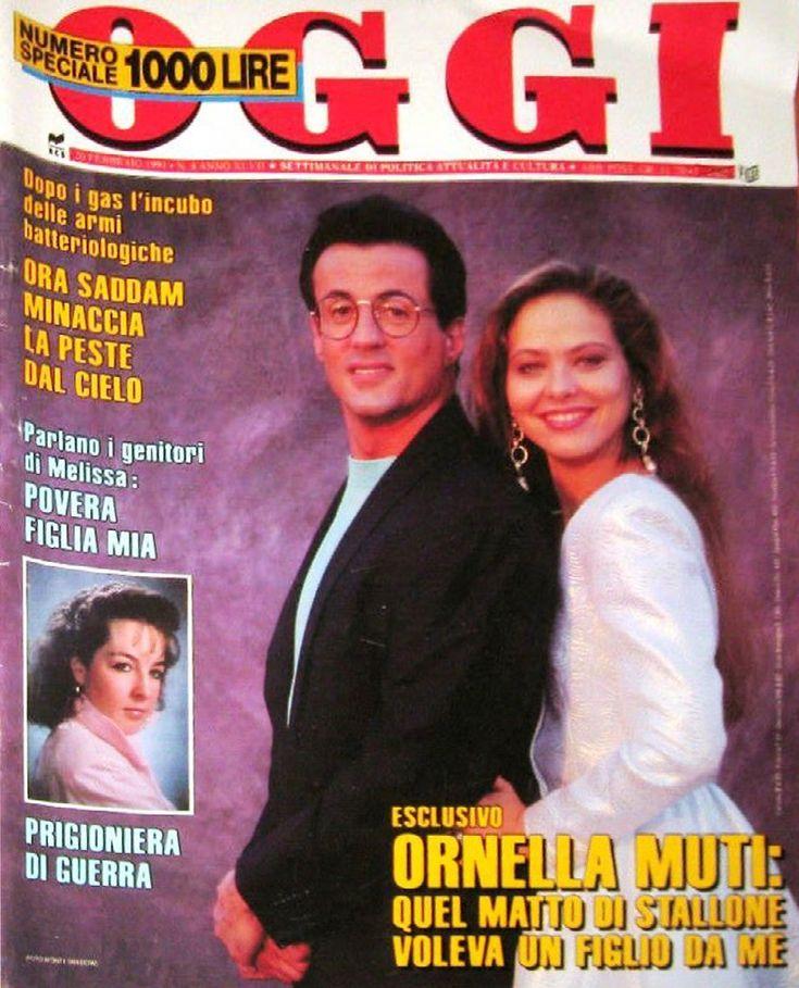OGGI 1991 - Stallone Сильвестр Сталлоне и Орнелла Мути